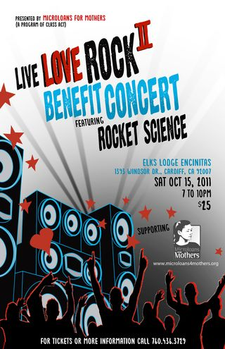Live Love Rock Benefit Concert Microloans for Mothers